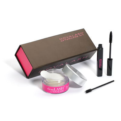 Protect Your Investment!  Extend the life of your lashes with a NovaLash AfterCare Kit that contains Nighttime Conditioner and Cleansing Pads with pomegranate seed extract for conditioning, glycol and carbonate-free NovaLash Mascara, an extra mascara wand to comb through the lashes each morning, and an Aftercare Instruction Card.